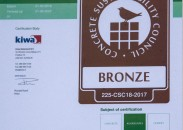 CSC certificaat voor Netterden Zand en Grind
